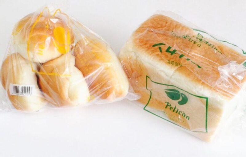 浅草ペリカンの食パンとロールパン