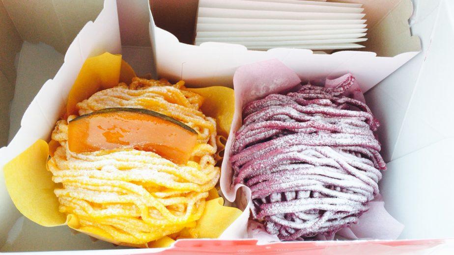 銀座コージーコーナーのパンプキンモンブランと芋モンブラン