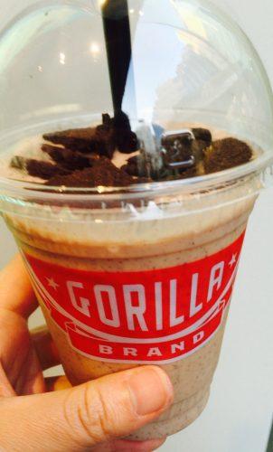 ゴリラコーヒー池袋で購入したチョコバナナシェイク