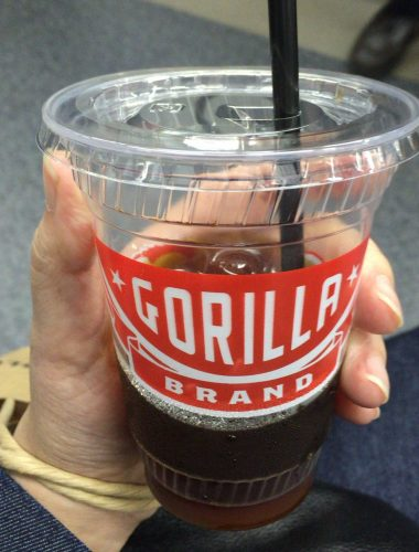 ゴリラコーヒー池袋で購入したアイスコーヒー