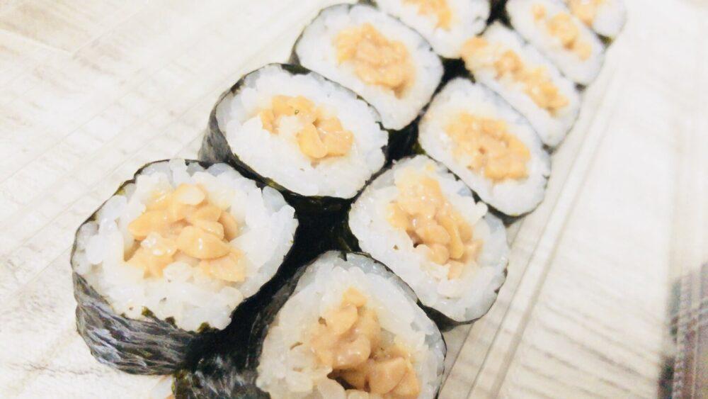 美登利寿司の納豆巻き