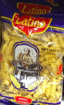 ダイソーで購入したラティーノというパスタ