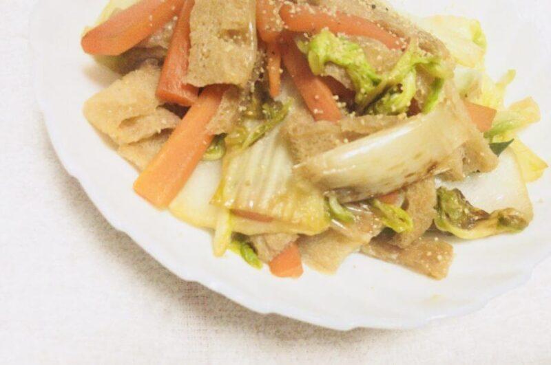 凍みこんにゃくを野菜炒めにしてみた