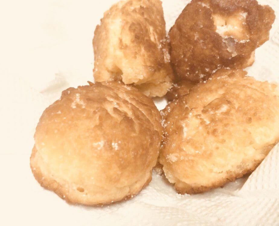 フライパンで作った一口ドーナツ