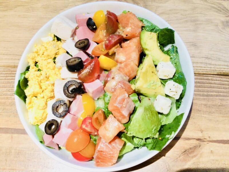 東京ミッドタウン日比谷ミスターファーマーのFARMER'S COBBサラダ オーガニックアガベドレッシング