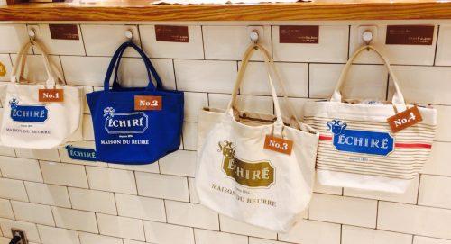 有楽町エシレバターの店舗にはかわいいバッグがいっぱい