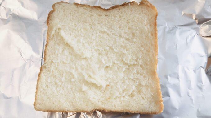 中野坂上の食パン専門店うん間違いない!で購入した食パンをトースターに