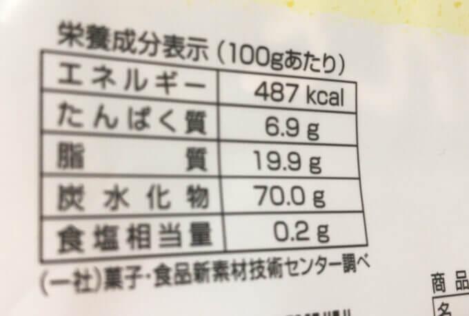 東京カリントの野菜のかりんとうのカロリー